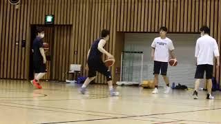 #41輪島選手と#24髙木選手のワークアウト①二つのボールを使って進みながらドリブル、パス…実際やってみると難しい!/休日 東京 趣味 遊び 暇つぶし