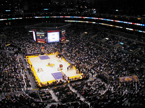 The view from a Staples Center Luxury Box where Lucas Anthony Tang fell 50 feet to his death!!!