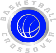 Basketball crossover logo