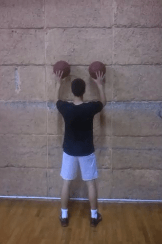 Two Ball Dribbling Drill Using Wall - Basketball