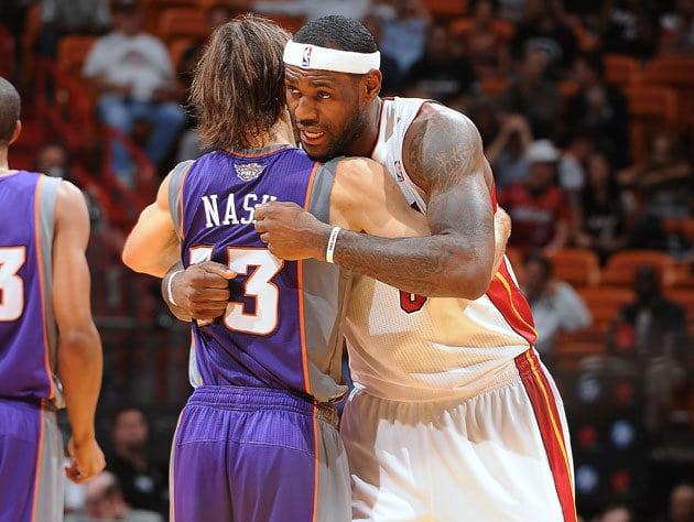 Steve Nash and LeBron James