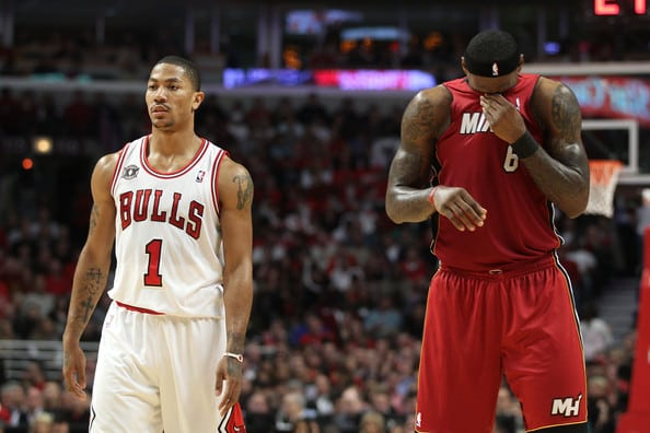 Derrick Rose and LeBron james
