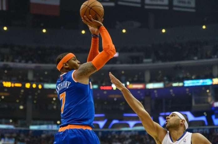 Carmelo Anthony and Jared Dudley