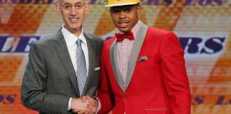 Adam Silver and D'Angelo Russell