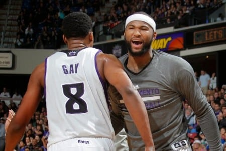 Rudy Gay and DeMarcus Cousins