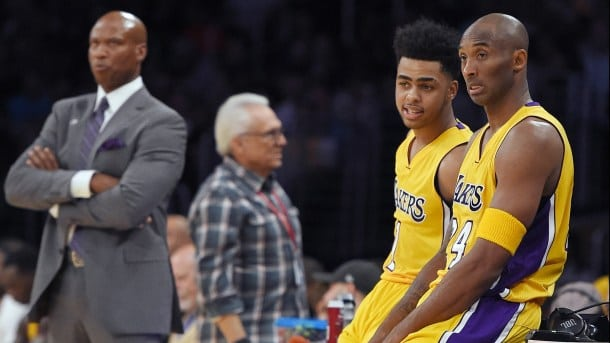 Kobe Bryant and D'Angelo Russell