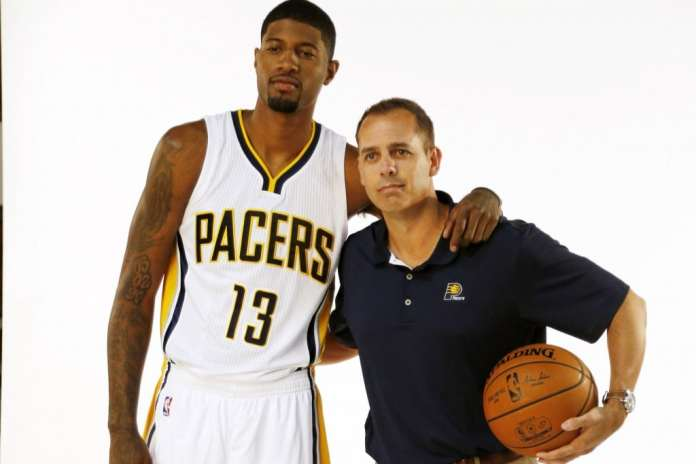 Paul George and Frank Vogel