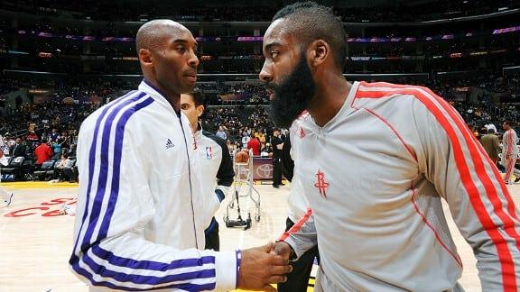 Kobe Bryant and James Harden