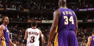 Shaquille O'Neal and Allen Iverson