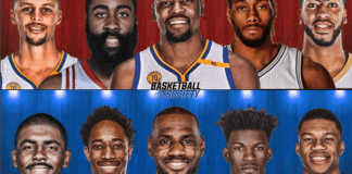 2017 NBA All-Star Starters, Stephen Curry, LeBron James, Kevin Durant