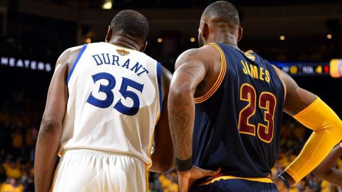 Kevin Durant, LeBron James, Cleveland Cavaliers, Golden State Warriors, 2017 NBA Finals