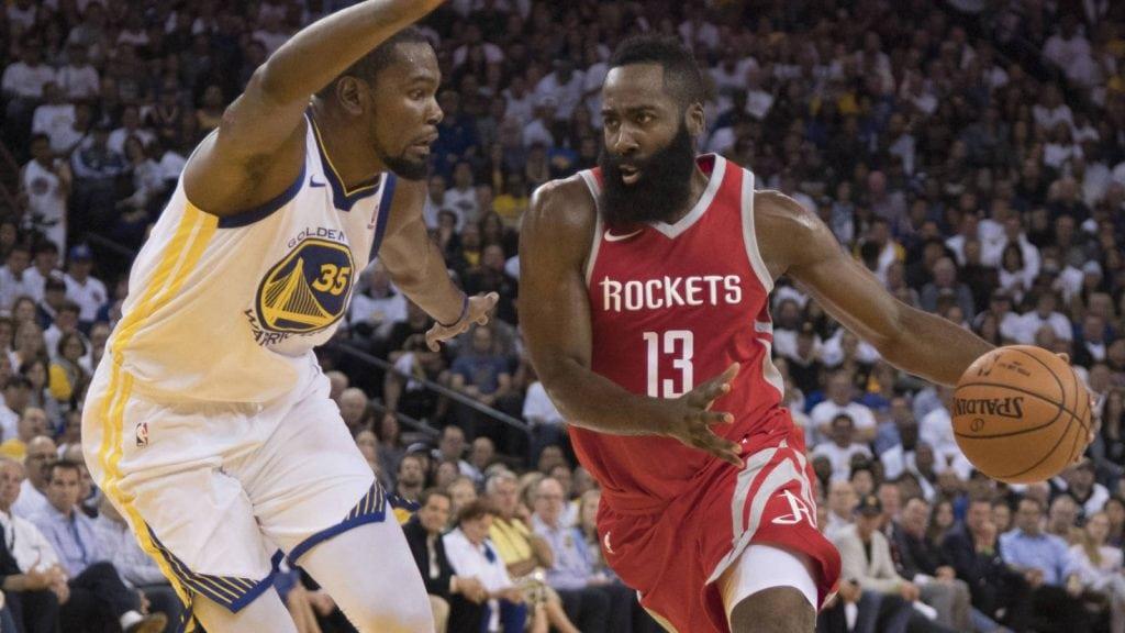 James Harden, Kevin Durant, Golden State Warriors, Houston Rockets