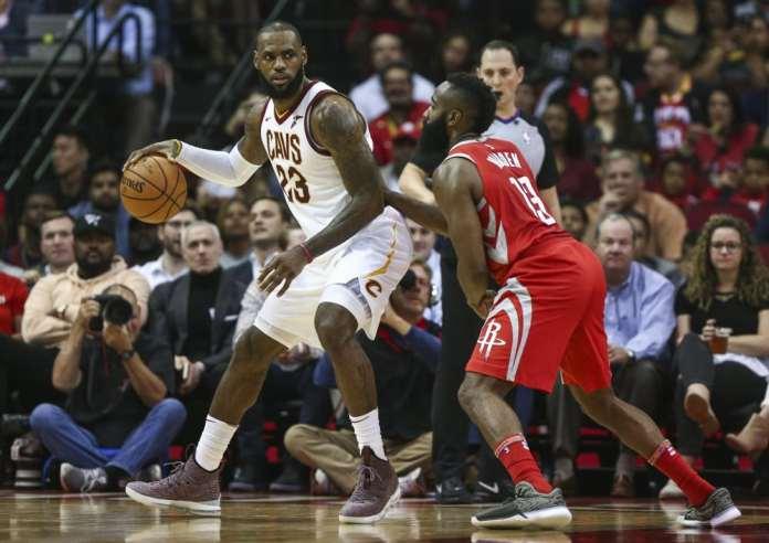 NBA LeBron James and James Harden