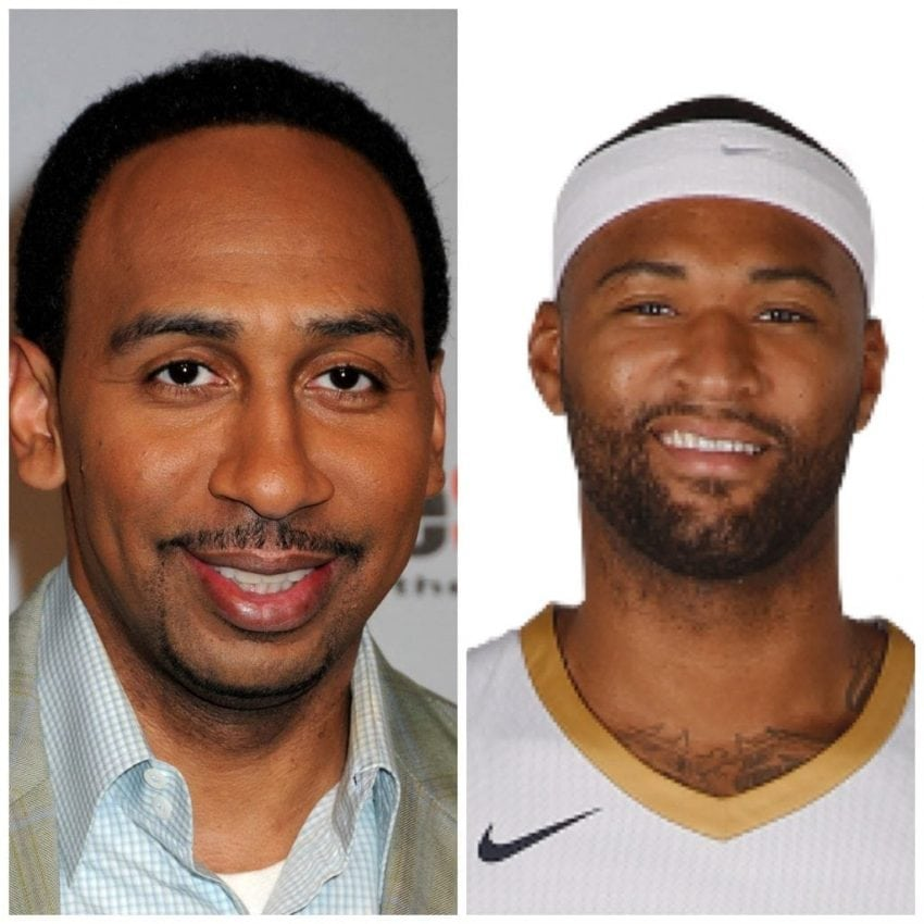 "d1a5a789a391 Warriors DeMarcus Cousins ""doesn t care"" about Stephen A. Smith s Lakers  prediction on ESPN First Take"