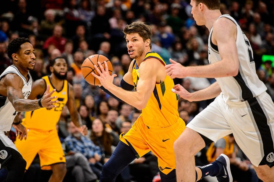 promo code 6b0ff 5abf2 Kyle Korver makes six 3-pointers to help Jazz defeat Nuggets