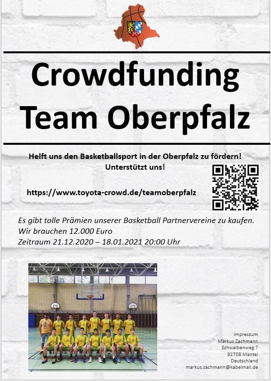 """Crowdfunding für """"Team Oberpfalz"""""""