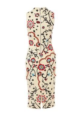alice olivia jacki vneck dress91800 back