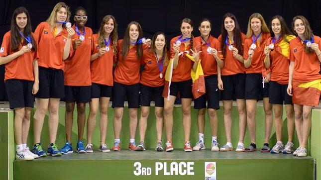 La selección U18 Femenina, bronce europeo