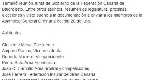Sorprendentemente, Roberto Marrero sigue ejerciendo como vicepresidente de la Federación Canaria
