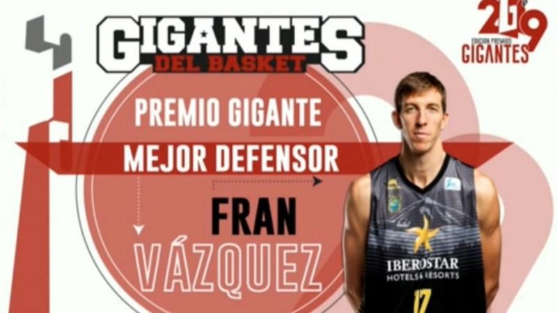 El CB Gran Canaria y Fran Vázquez, premiados por 'Gigantes del Basket'