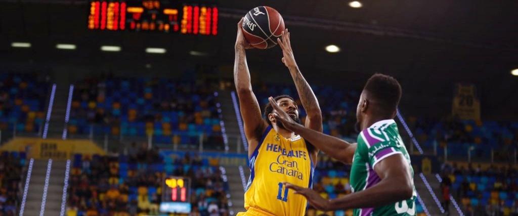 El Gran Canaria supera al Unicaja, se pone quinto y da un paso de gigante hacia el 'playoff'