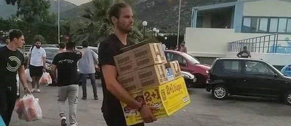 El ex aurinegro Bogris, voluntario en la ayuda a las víctimas del incendio de Grecia