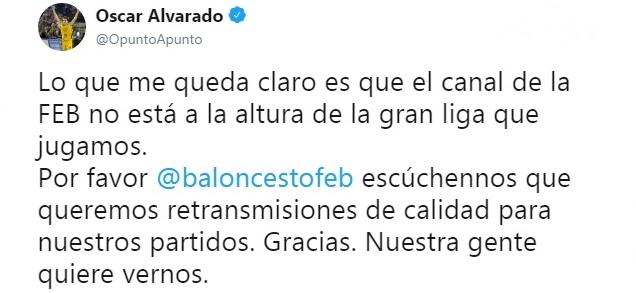 Óscar Alvarado insiste en que la LEB Oro sea televisada
