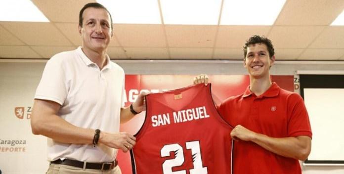 San Miguel: «Soy muy feliz siendo nuevo jugador del Basket Zaragoza»