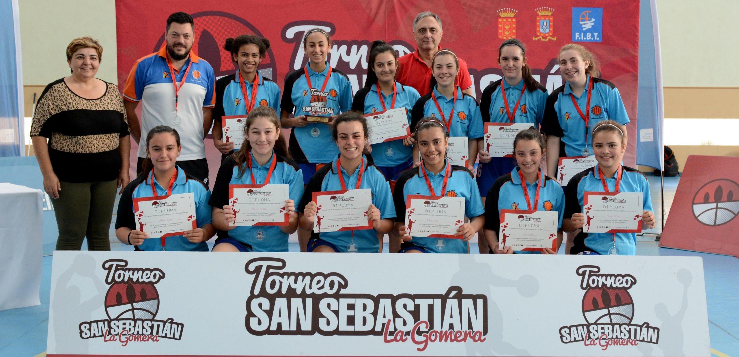Valle Arautápala, campeón del II Torneo Cadete femenino San Sebastián de La Gomera