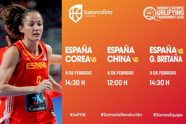 Confirmados los horarios de los partidos de la selección femenina en el Preolímpico