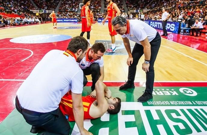 Santi Yusta se lesiona en el tropezón de España ante Polonia