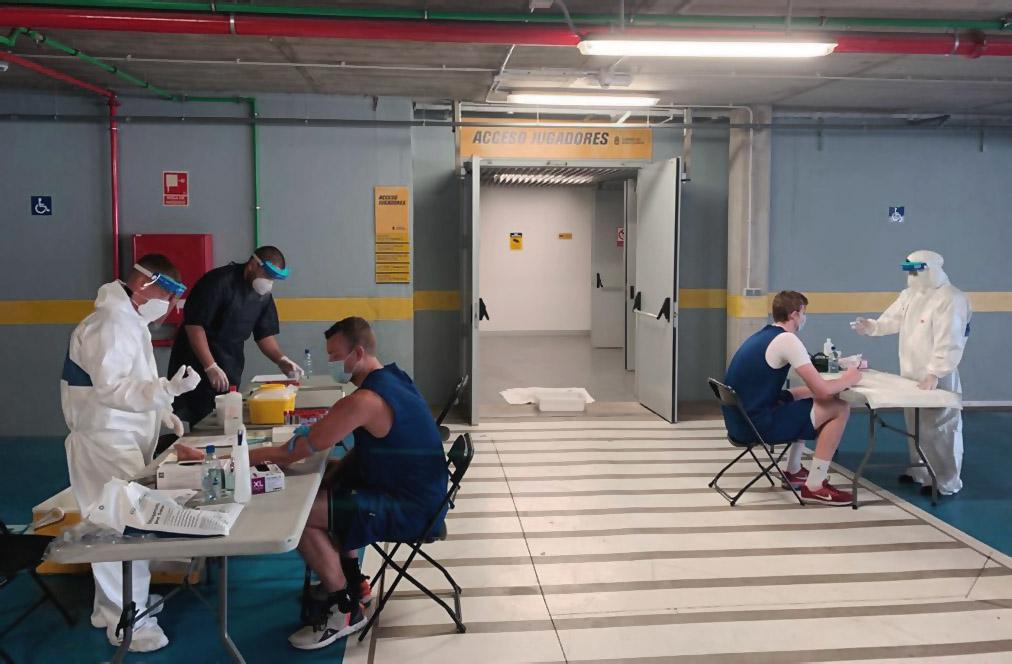 El Gran Canaria-Claret regresó al trabajo tras someterse a nuevos controles sanitarios