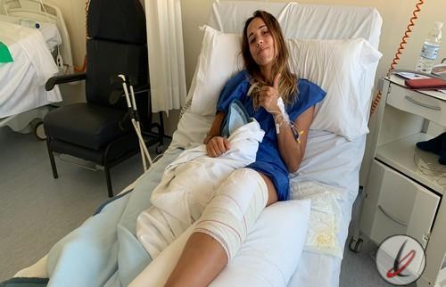 Sara Duarte operada con éxito del ligamento cruzado interno de la rodilla