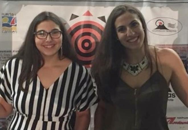 Las hermanas García, Yaiza y Natalia, juntas en el Magec Tías de Liga Femenina 2