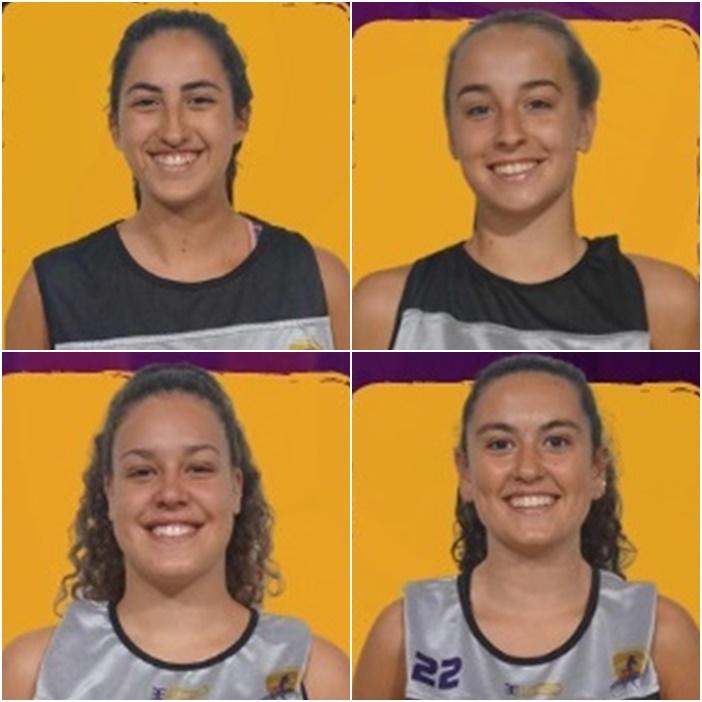 Samira Olano, Andrea Rodríguez, Carla Rivero y Daniela Bercedo son las cuatro U22 del Clarinos vinculadas al Magec Tías de Liga Femenina 2
