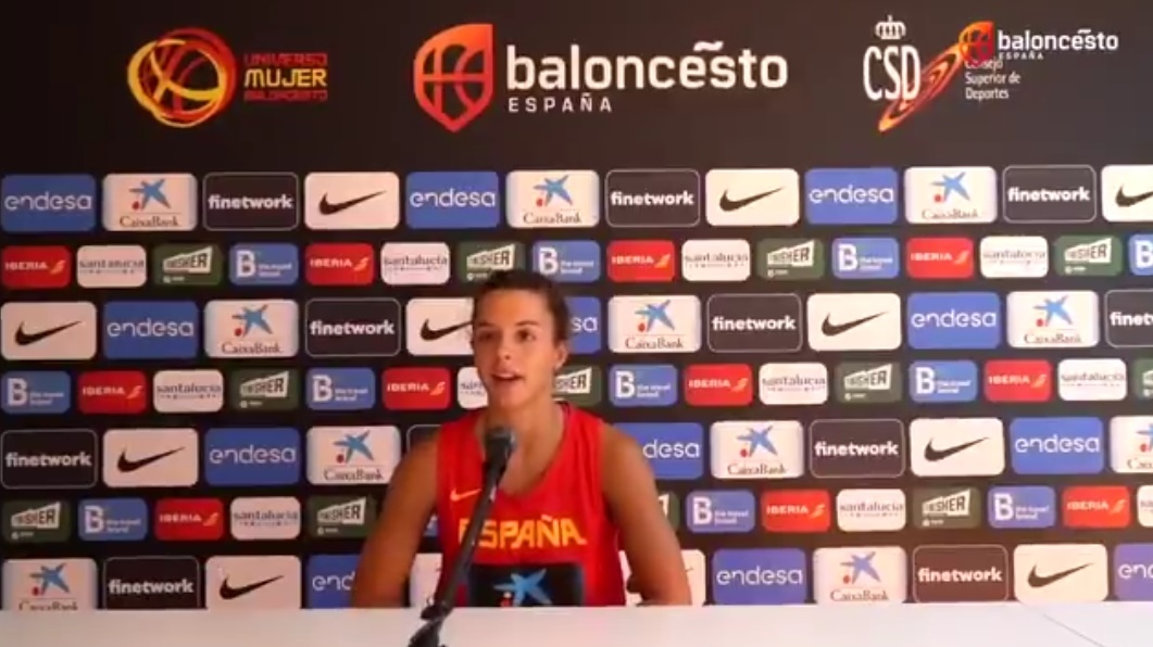 [VÍDEO] Elena Buenavida se siente «afortunada de volver a estar con la selección al más alto nivel»