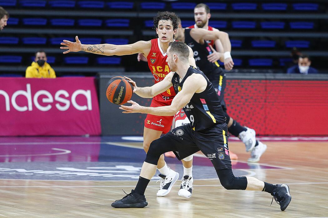 Huertas comanda la trabajada decimonovena victoria aurinegra en ACB ante un combativo UCAM Murcia