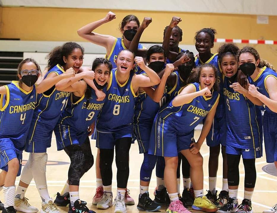 La selección canaria femenina disputará las semifinales del Nacional de Minibasket