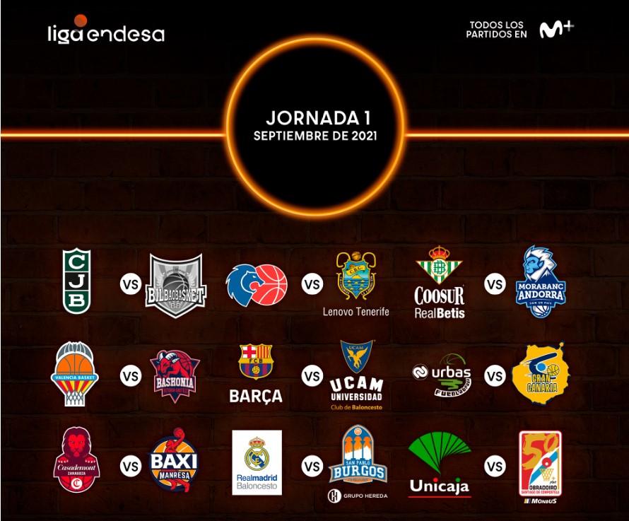 La Liga ACB 2021/22 comenzará el 18 de septiembre