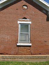 Original door of school house on the west side