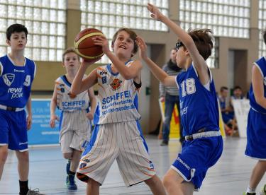 Basketball U12-Regionalliga Baskets Lüdenscheid VfL Bochum Astro Stars II Foto: Lüdenscheider Nachrichten / Axel Krüger