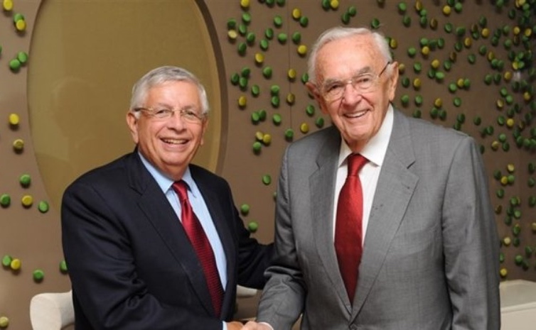 boris Stankovic y David Stern, dos dirigentes legendarios del baloncesto mundial