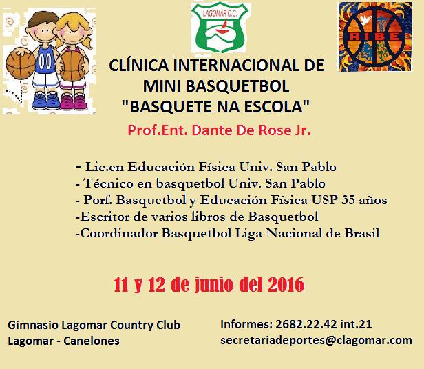 afiche clinica de basquetbol