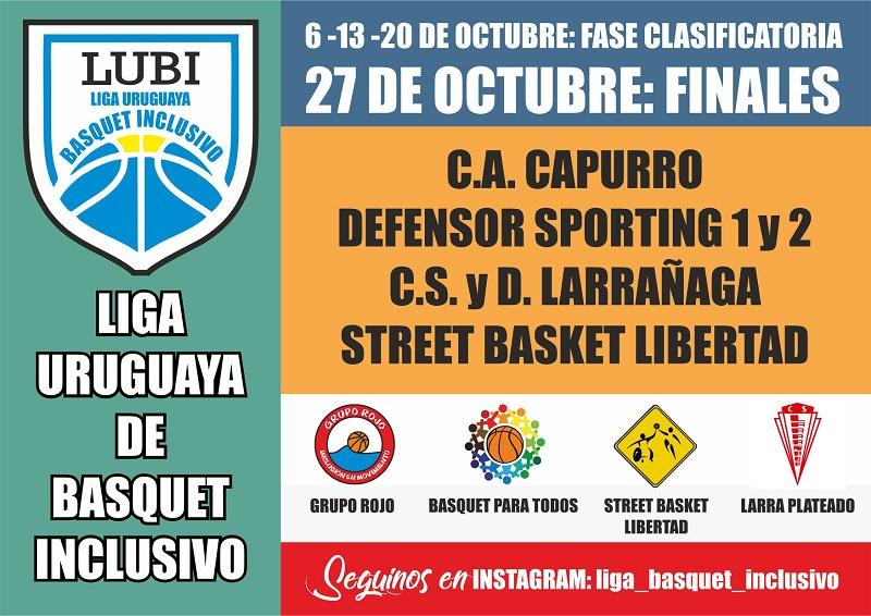 Se viene la Liga Uruguaya de básquetbol inclusivo