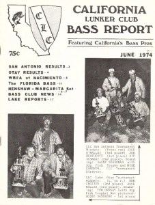 1974 California Lunker Club Front Page