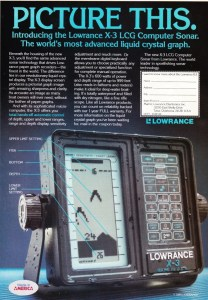 Dec 1985 Lowrance ad featuring their LCG technology. Notice the resolution.