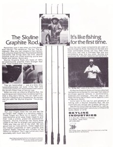 Skyline graphite rod ad from early 1976.