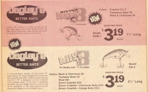1976 Bass Pro Shops Christmas flyer ad for Bagley's. Don't you wish you could go back in time and buy a few dozen?