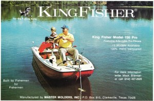 Unfortunately King Fisher didn't print a new ad for their 1973 lineup, deciding to place a 1972 ad in the magazines. The ad shows the typical bathtub style hull of their 156 Pro model and they were still pimping the Pro Throne bass seats. What bothers me is they had 13 models available, yet their ad campaign didn't show any of them.