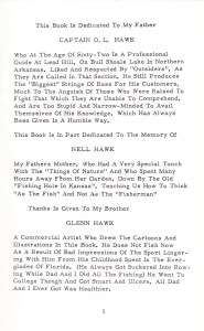 Hawk's dedication for the book, Eighty Years on Bass.